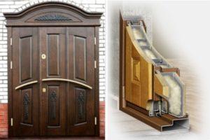 Двери утепленые металлические