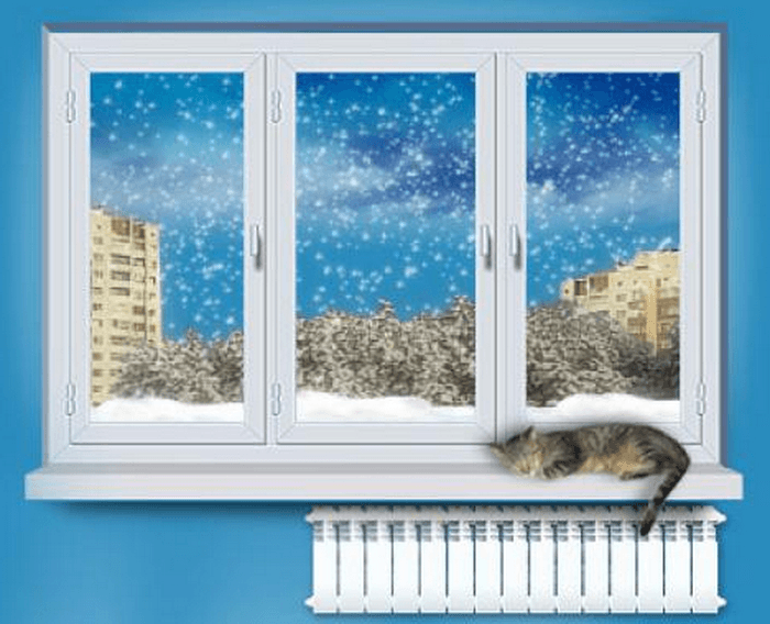утеплённое пластиковое окно