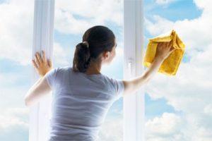 вымойте окна предварительно