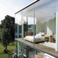 балкон с панорамным остеклением в частном доме