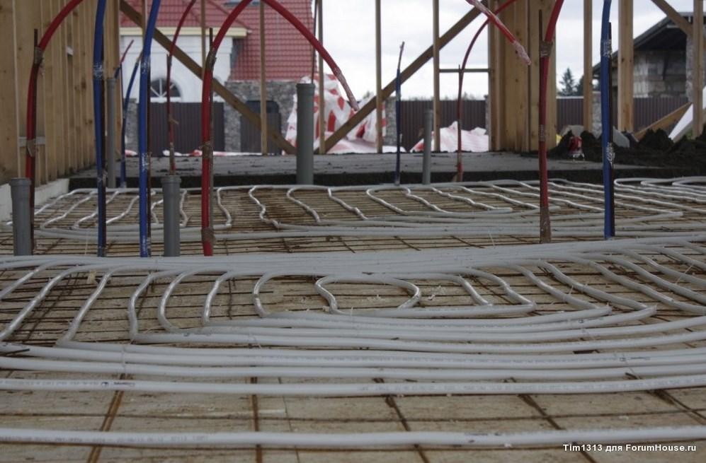 Монтаж теплого пола в утепленном финском фундаменте