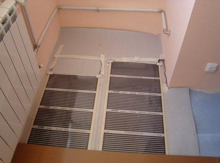 Электрический тёплый пол на балконе