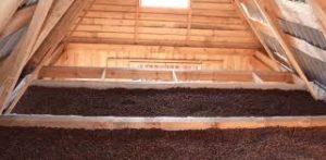 Потолок бани утепленный керамзитом