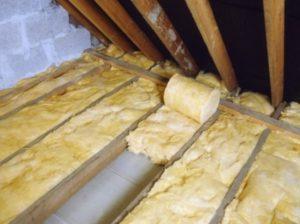 Потолок утепленый менеральной ватой