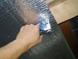 Утепление потолка бани фольгированным материалом