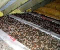 Утепление потолка бани керамзитом