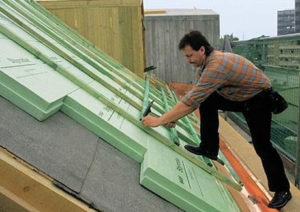 Утепление крыши экструдированным пенополистеролом