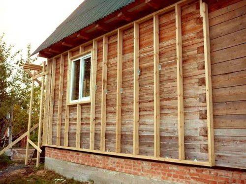 Деревянный каркас готов под монтаж сайдинга