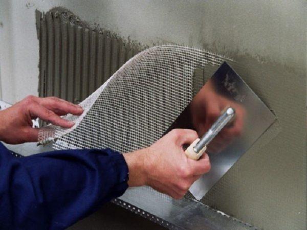 Армирование базальтовой минеральной ваты перед штукатуркой