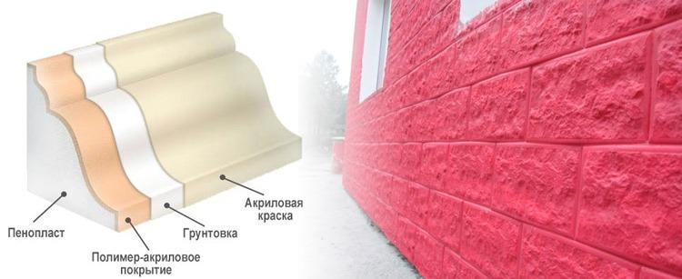 Пенопласт для фасада может быть любого цвета и фактуры