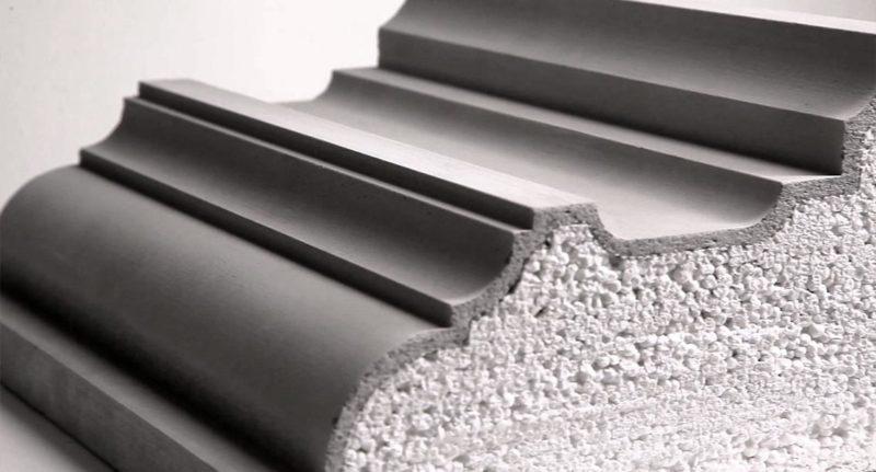 фасадный декор из пенопласта с композитным или цементно-полимерным покрытием покрытием