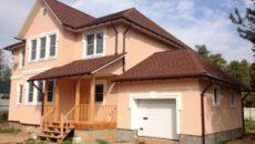 Дом с теплёнными фасадами пенопластом