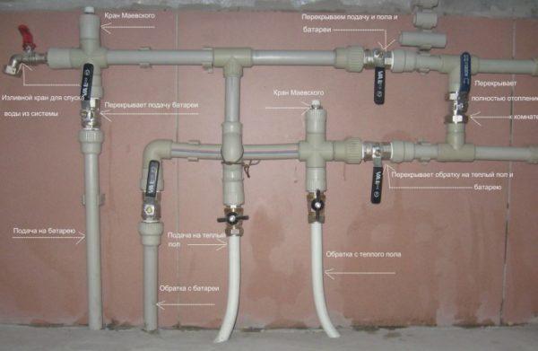 коллектор системы водяного тёплого пола