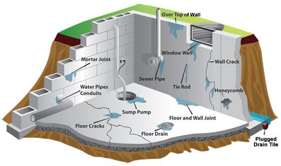 Иллюстрация наглядно демонстрирует критически важные места для защиты от промерзания конструкций погреба