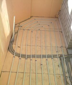 Как сделать водяной теплый пол на балконе или лоджии