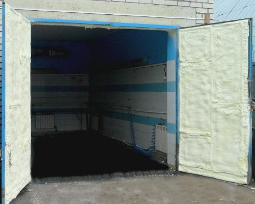 Утеплить железные ворота в гараже своими руками купить гараж в поволжском