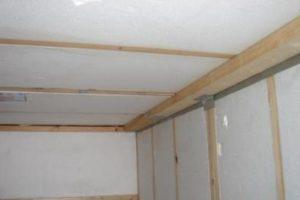 утепление металлического гаража изнутри пенопластом