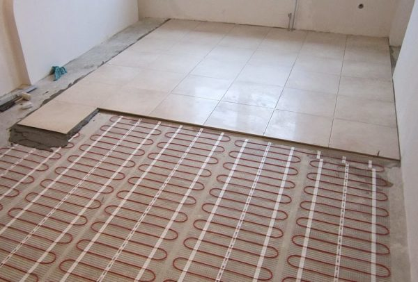 Теплый пол на балконе по типу модульной стяжки